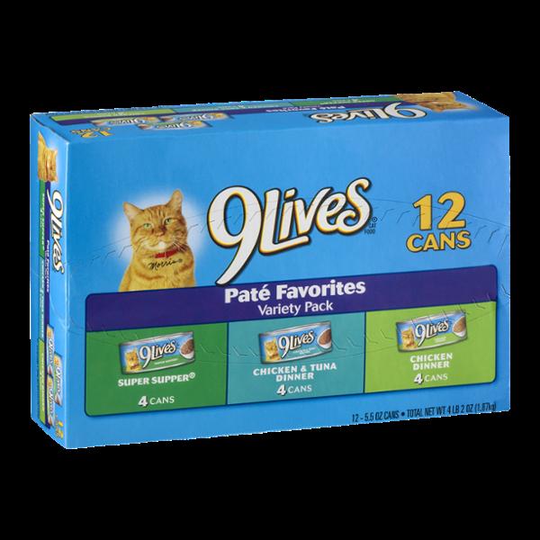 9Lives Cat Food Pate Favorites Variety Pack