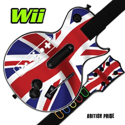 MightySkins GUITAR HERO 3 III Faceplate Skin Skins for Nintendo Wii Les Paul - British Pride
