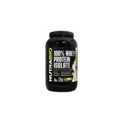 NutraBio 100 Whey Protein Isolate - 2 lbs Unflavored