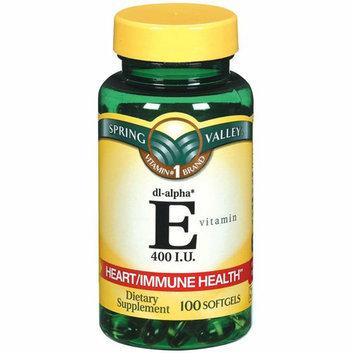 Spring Valley E Vitamin Heart/Immune Health Dietary Supplement 100 Ct