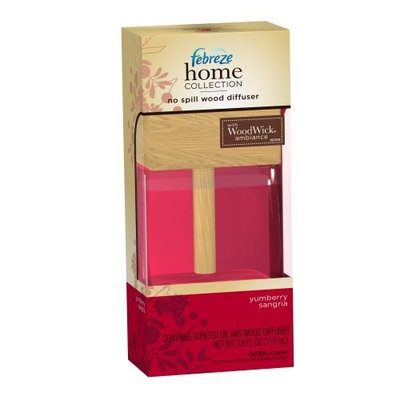 Febreze Home Collection No Spill Wood Diffuser Yumberry Sangria, 3.8-Ounce