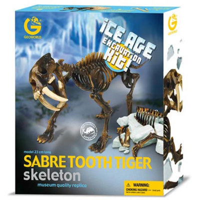 Geo World Ice Age Excavation Kit - Sabre Tooth Tiger