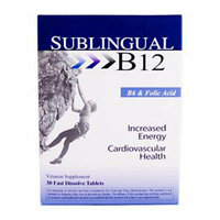 Heaven Scent Heaven Sent Sublingual B12 with B6 and Folic Acid 30 Tablets