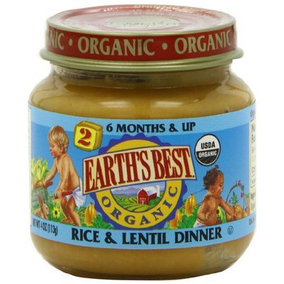 Earth's Best Organic Baby Food, Rice & Lentil Dinner, 4 Ounce (Pack of 12)