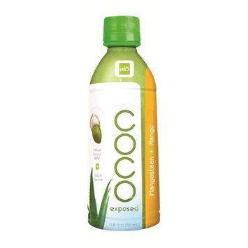 Aloe Farm Alo Coco Exposed Mangosteen + Mango Drink, 11.8-Ounce Bottles (Pack of 12)