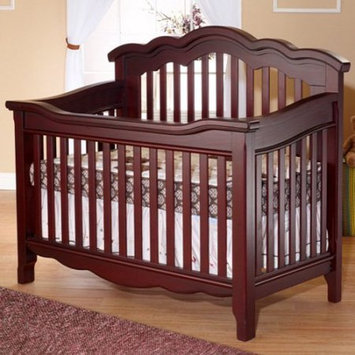 C And T International Inc Lusso Nursery Ravenna Crib with Toddler Rail