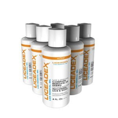All Stop Liceadex Lice & Nit Removal Gel :: Non-Toxic Lice Treatment Gel :: 6 Pack