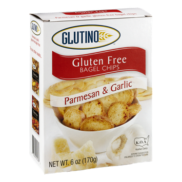 Glutino Bagel Chips Gluten Free Parmesan & Garlic