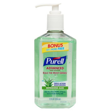 Purell Advanced Hand Sanitizer, Bonus Size Pump, Aloe, 12 oz.