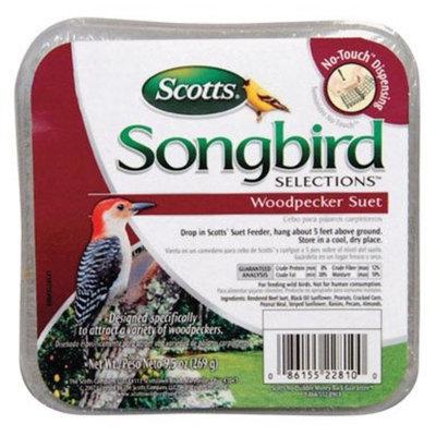 Scotts Songbird Songbird Selections 1022810 Woodpecker Suet Wild Bird Food, 9.5-Ounce