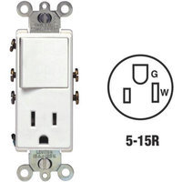 Leviton S02-5625-W Switch And Outlet Combination-SWITCH/OUTLET
