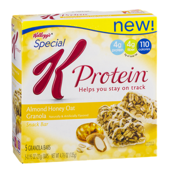 Kellogg's Special K Protein Bars Almond Honey Oat Granola - 5 CT
