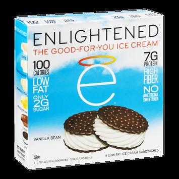 Enlightened Ice Cream Sandwiches Vanilla Bean - 4 CT