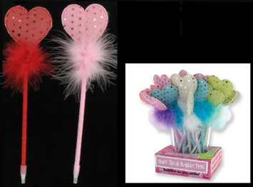 Bulk Buys DDI 1221154 Sequin Heart Pens