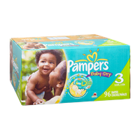 Pampers Baby Dry Size 3 Sesame Street Diapers - 96 CT