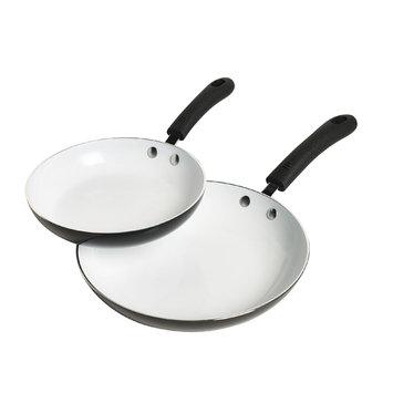 Tabletops Unlimited, Inc 2pk Metallic Ceramic Fry Pan, Black