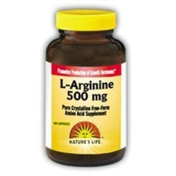 L-Arginine 500mg Nature's Life 50 Caps