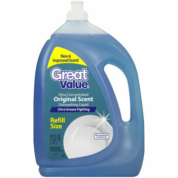 Great Value Original Scent Refill Size Dishwashing Liquid