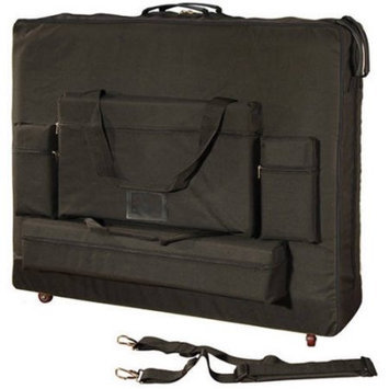 Royal Massage 30 Width Deluxe Black Universal Massage Table Carry Case w/Wheels