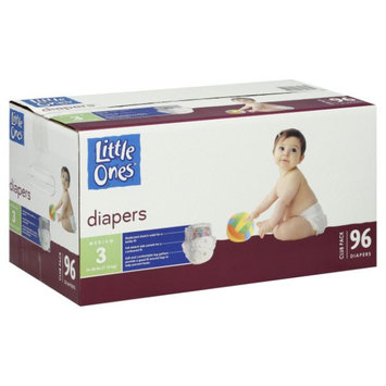 Little Ones Diapers, Medium, Size 3 (16-28 lb), Club Pack, 96 diapers