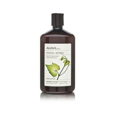 AHAVA Mineral Botanic Velvet Cream Wash, Grape and Avocado, 17 fl. oz.