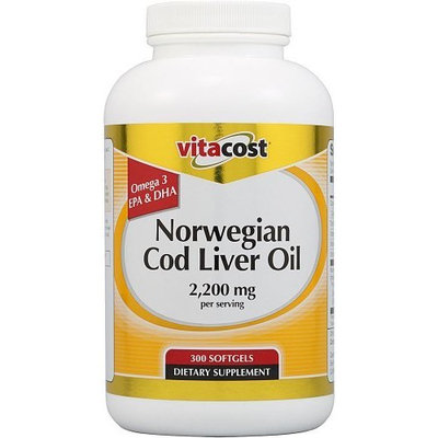 Vitacost Brand Vitacost Norwegian Cod Liver Oil -- 2200 mg per serving - 300 Softgels
