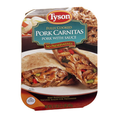 Tyson Pork Carnitas Fully Cooked