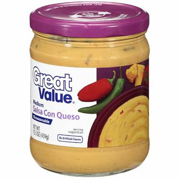 Great Value : Medium Salsa Con Queso