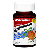 Nature's Herbs Pomegranate Fruit 800 mg Herbal Supplement Capsules