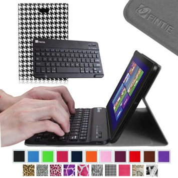 Fintie SlimShell Case Wireless Bluetooth Keyboard Cover for Dell Venue 8 Pro Windows 8.1 Tablet, Houndstooth Black