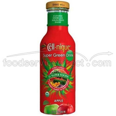 Bounty Celll-nique Organic Apple Super Green Drink, 12 Ounce -- 12 per case.