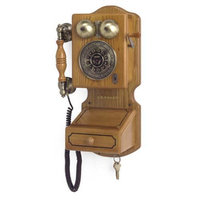 Crosley Radio Crosley Country Wall Phone Oak Classic 1920s Telephone