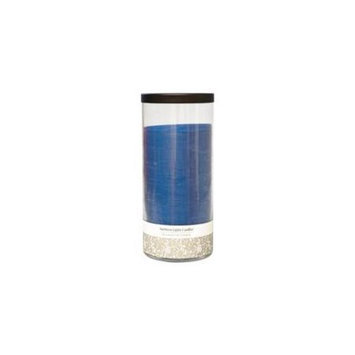 Fresh Linen Scented By Fresh Linen Scented One 7.5 Inch Glass Pillar Scented Candle With Lid. Burns Approx. 110 Hrs.