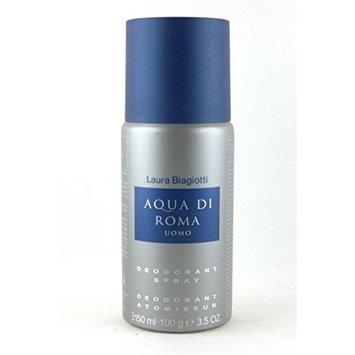 Laura Biagiotti Aqua Di Roma Uomo Deodorant Spray for Men, 3.5 Ounce