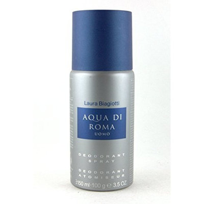 Laura Biagiotti Aqua Di Roma Uomo Deodorant Spray for Men, 3.5 Ounce