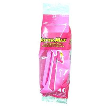 Super Max Ladies Supermax Twin Disposable Razors 10ct 2 Pack