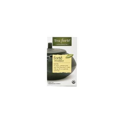 Tea Forte Tea, 100% organic, Forte Brkfst, Bag , 16 ct (pack of 6 ) ( Value Bulk Multi-pack)