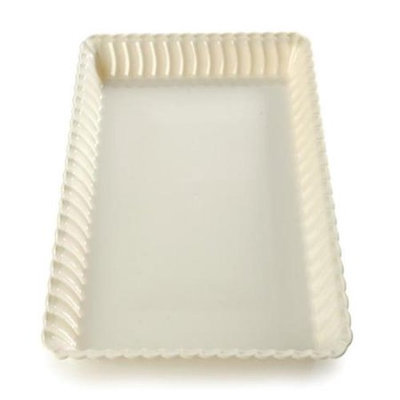 Fineline Settings 293-WH Flairware 9 in. x 13 in. White Serving Tray