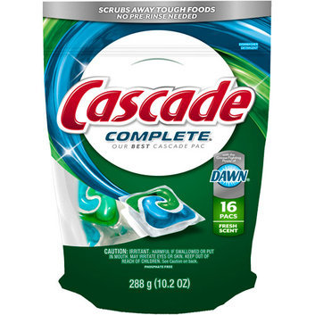 Cascade Complete Pacs Fresh Scent Dishwasher Detergent