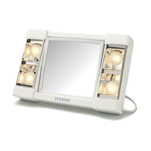 Jerdon Lighted Makeup Mirror with 3X Magnification