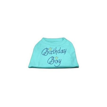 Mirage Pet Products 52-10 XXLAQ Birthday Boy Rhinestone Shirts Aqua XXL - 18
