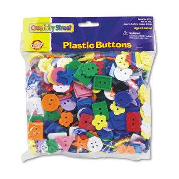 Chenille Kraft Plastic Button Assortment, 1 lbs, Assorted Colors/Sizes