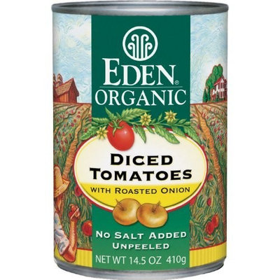 Eden Organic Diced Tomatoes with Roasted Onion & Garlic, 14.5-Ounce Cans (Pack of 12)