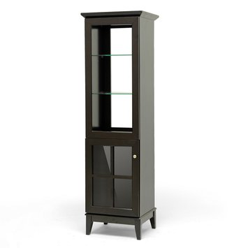 Modvilla Baxton Studios Nelson Dark Brown Modern Storage Tower