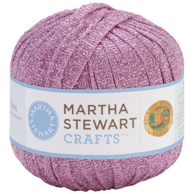 Lion Brand 5900MS-502 Martha Stewart Glitter Ribbon Yarn-Amethyst