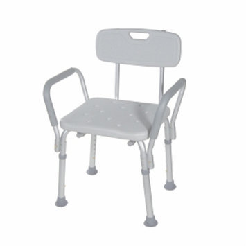 Drive Medical Bath Bench with Padded Arms and Back, 1 ea