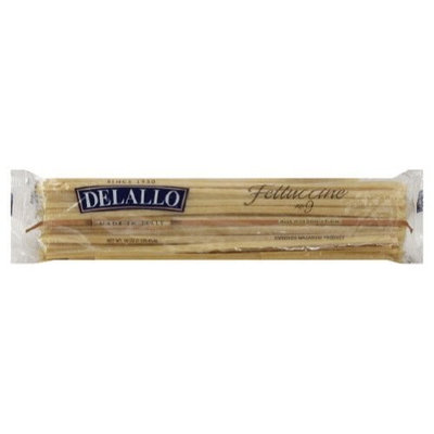 Delallo, Pasta Bag Fettuccine, 16 OZ (Pack of 16)