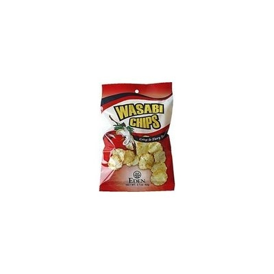 Eden Foods Wasabi Chips Hot 'n Spicy -- 2.1 oz