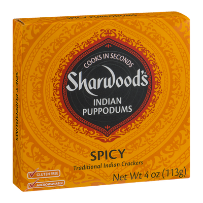 Sharwood's Indian Puppodums Spicy