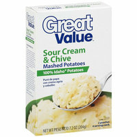 Great Value : Mashed Sour Cream & Chive Potatoes